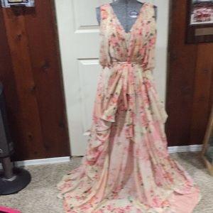 Varun Bahl long floral long dress size 4